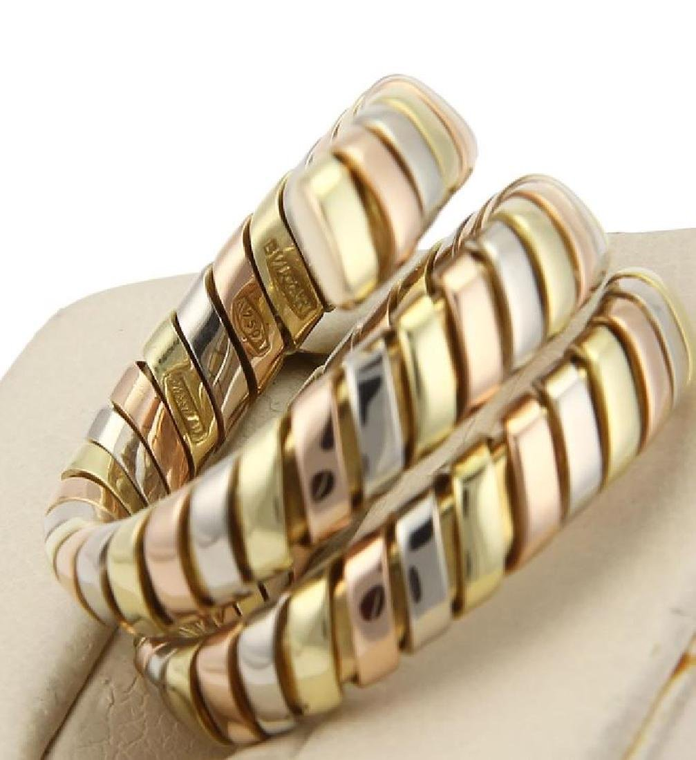 Bvlgari Bulgari Tubogas 18k Gold Wrap Band Ring - 4
