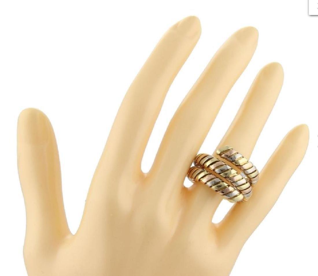 Bvlgari Bulgari Tubogas 18k Gold Wrap Band Ring - 5