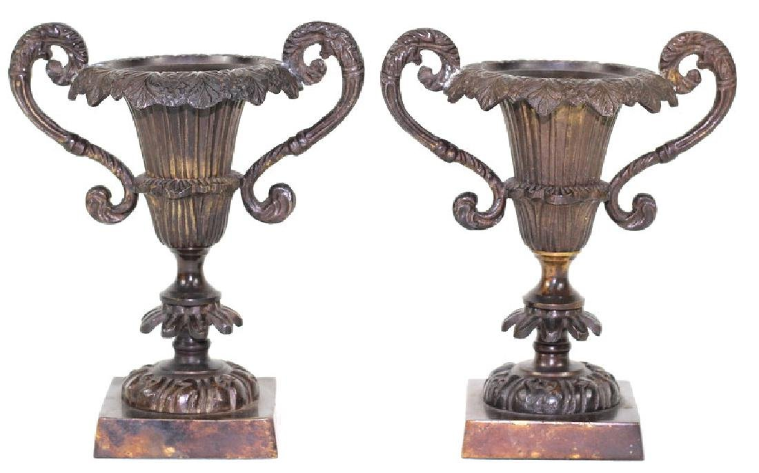 French Bronze Garniture Candlestick Holders