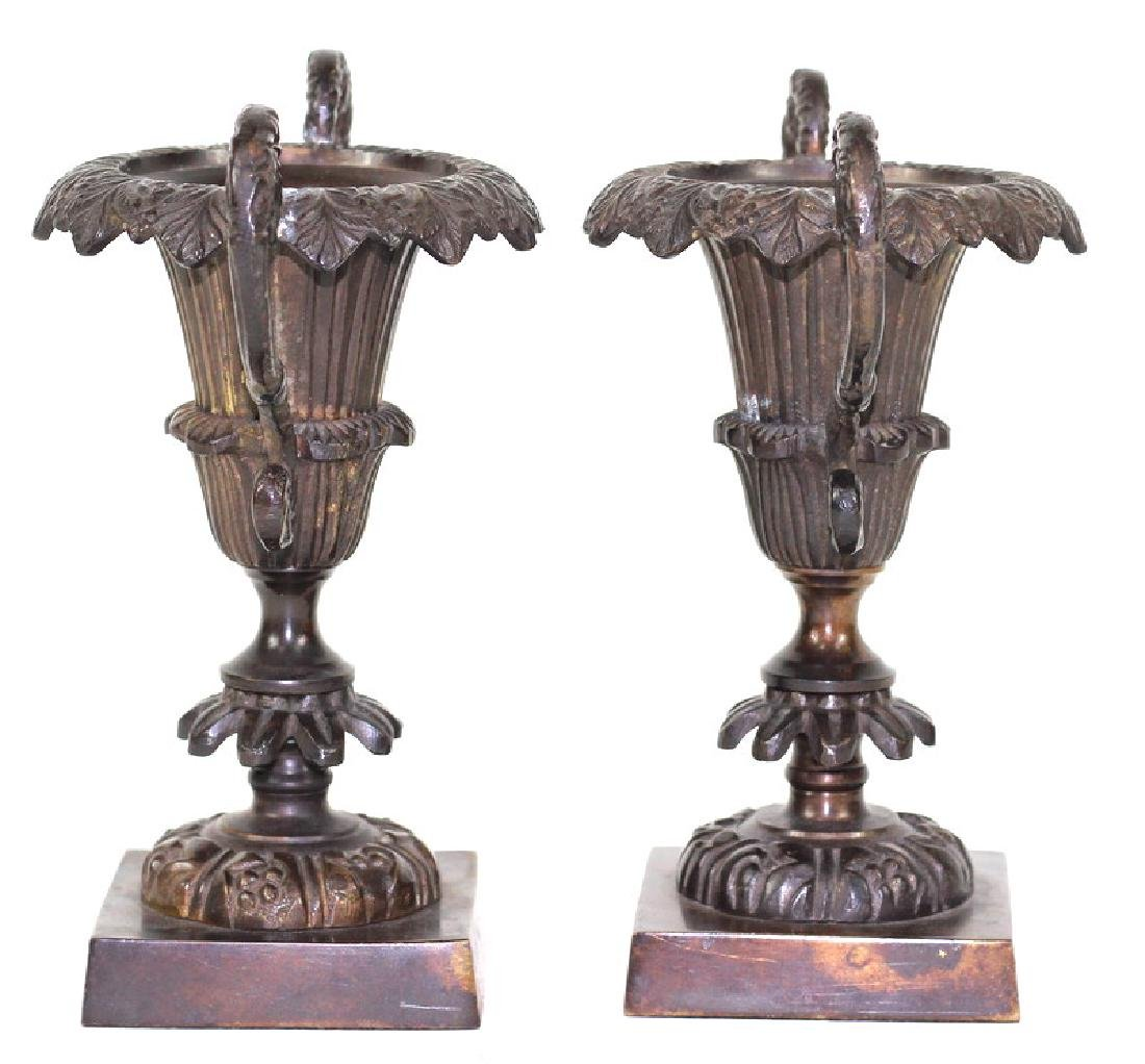 French Bronze Garniture Candlestick Holders - 2