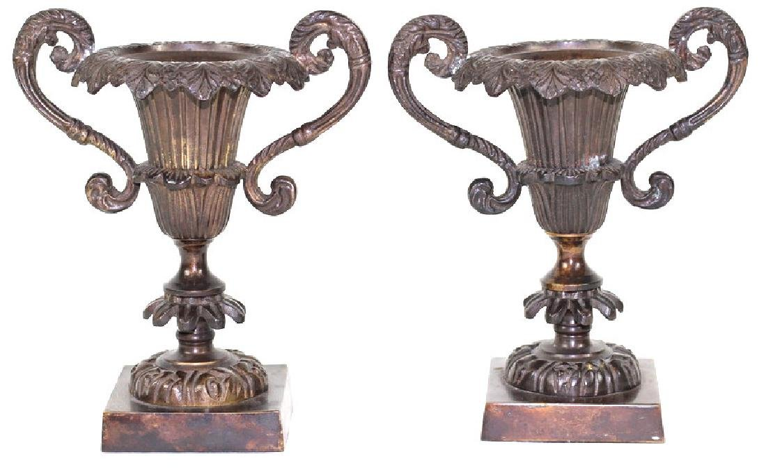 French Bronze Garniture Candlestick Holders - 3