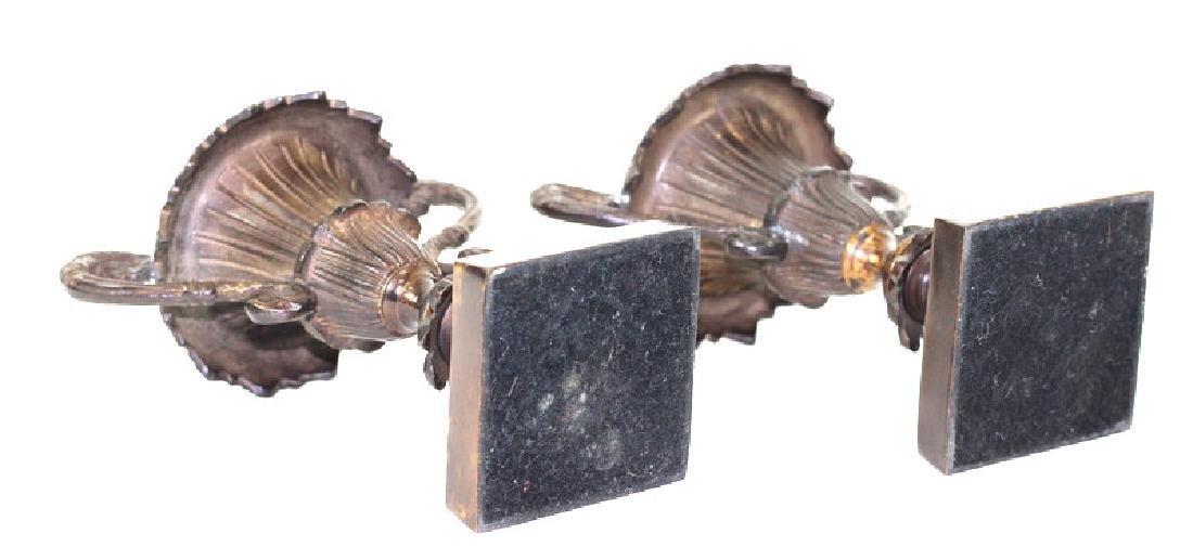 French Bronze Garniture Candlestick Holders - 4