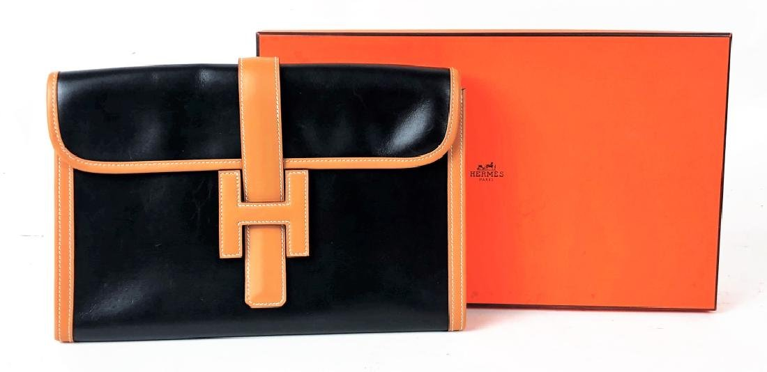 Rare Vintage Hermes Paris Jige Duo Wallet w/ Box
