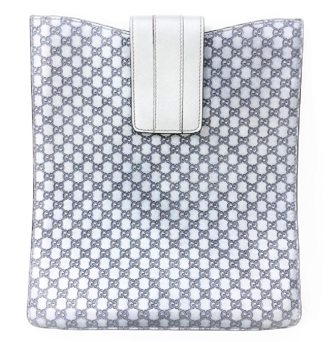 Gucci Shine Micro GG Metallic Monogram Ipad Case