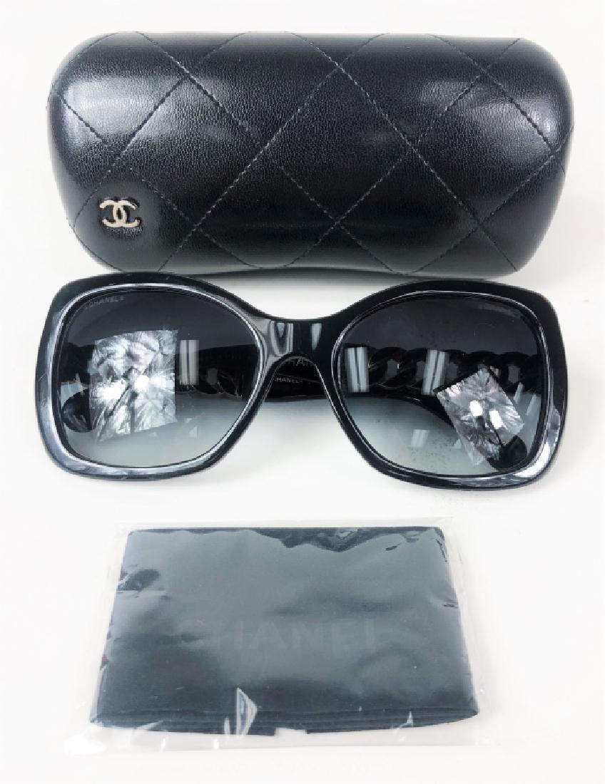 Chanel 5305 Chain Link CC Logo Wayfarer Sunglasses - 6
