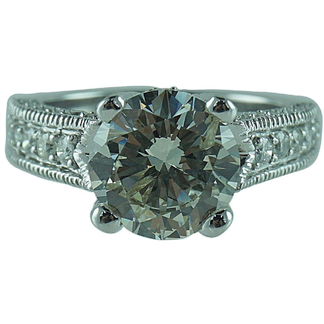 Approx. 4.54 TCW Round Brilliant Cut Diamond Ring.