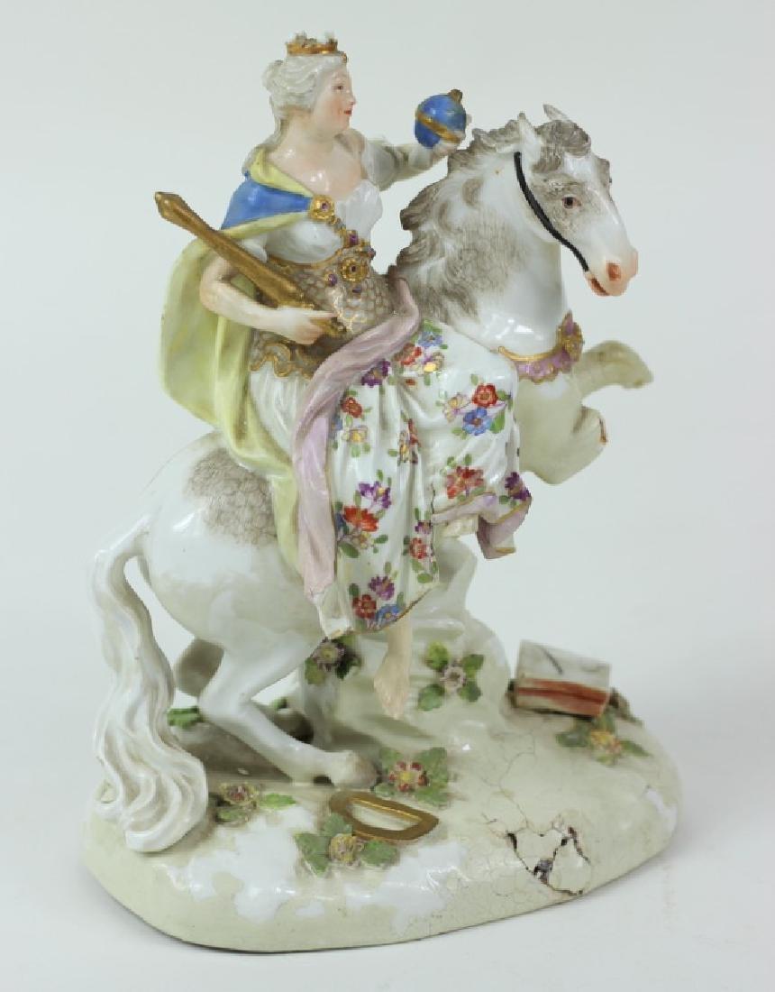 Antique Meissen Equestrian Group. - 2