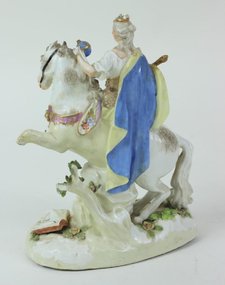 Antique Meissen Equestrian Group. - 3
