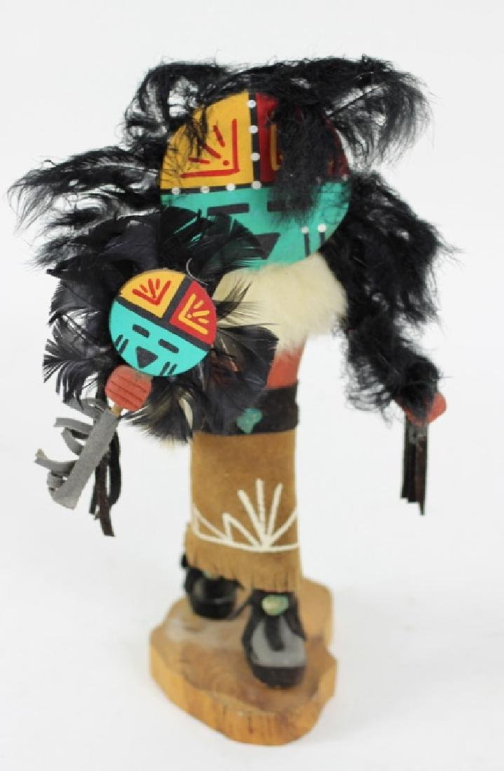 "20th C. Hand Painted Hopi Kachina Doll ""Sun Face"""
