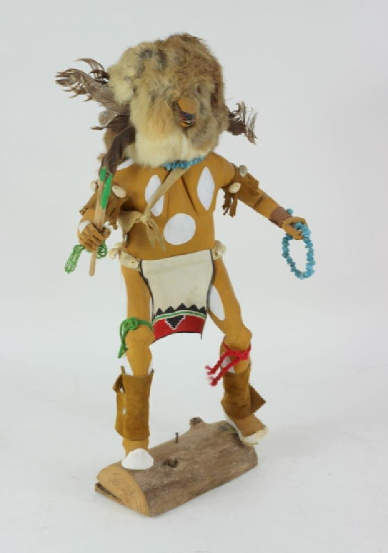 20th C. H/P Carved Wooden Hopi Kachina Doll - 3