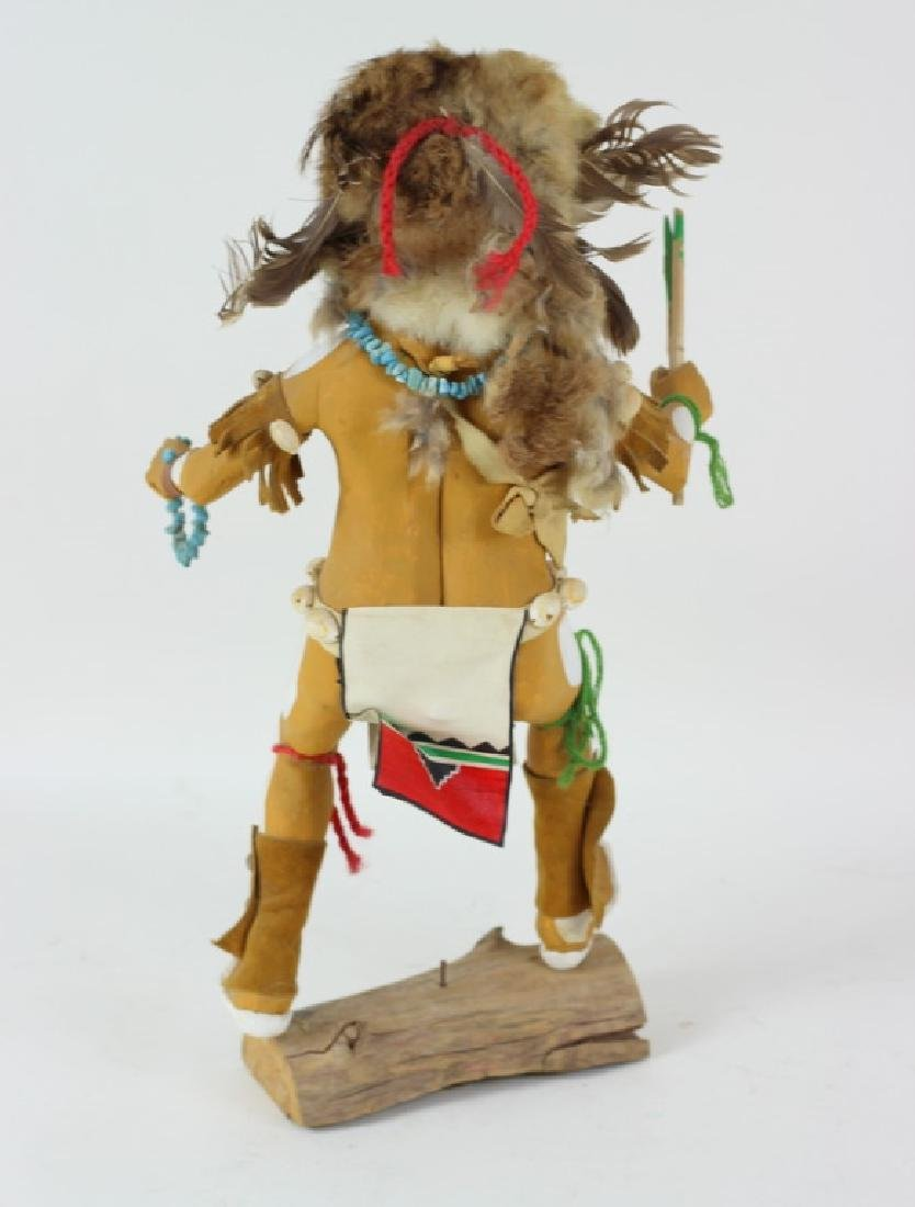 20th C. H/P Carved Wooden Hopi Kachina Doll - 4