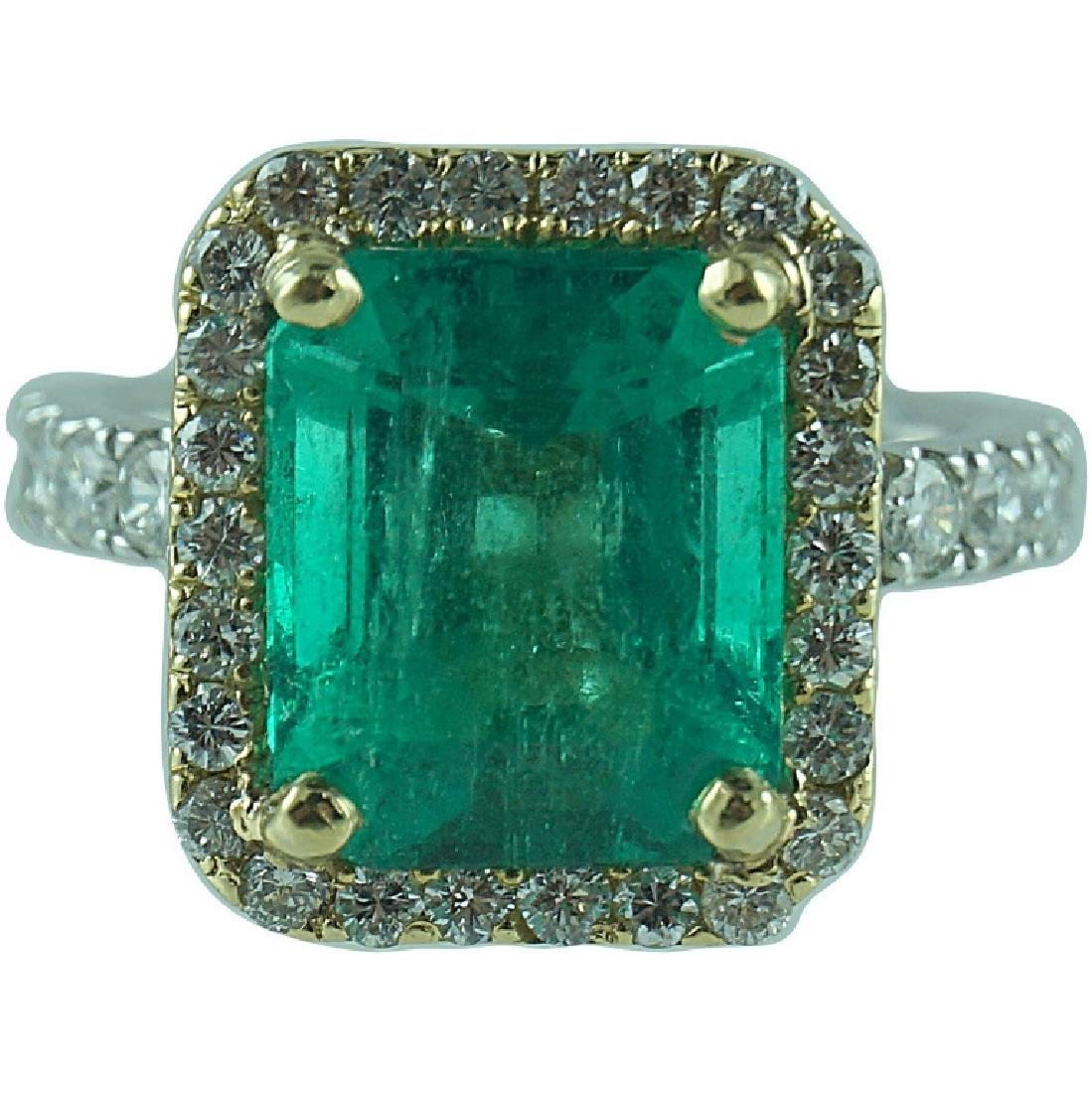 Approx 5.48CT Colombian Emerald 1.00CT Diamond