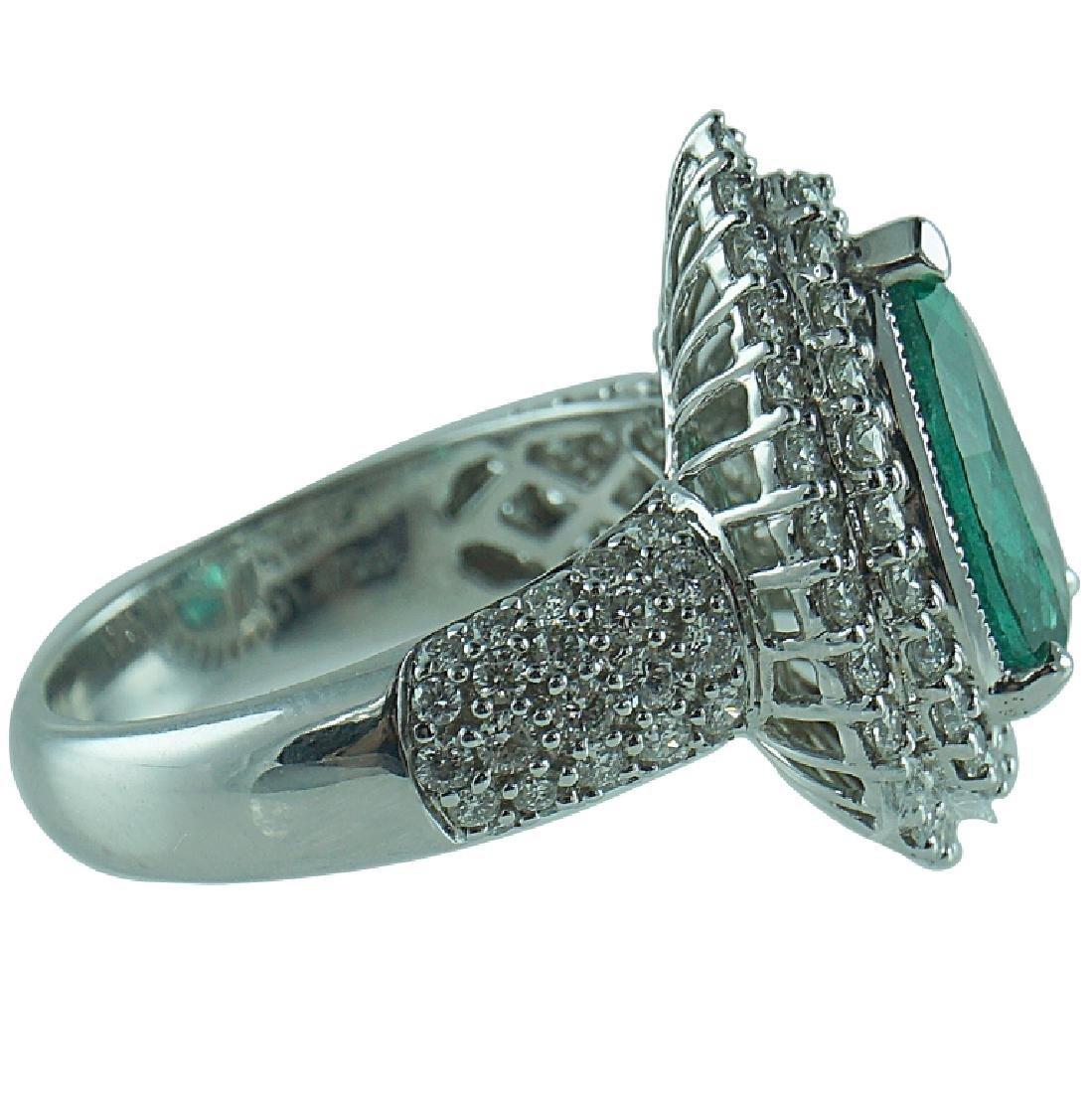 18 Karat WG 2.72 Carat Emerald 1.47 TCW Diamond - 2