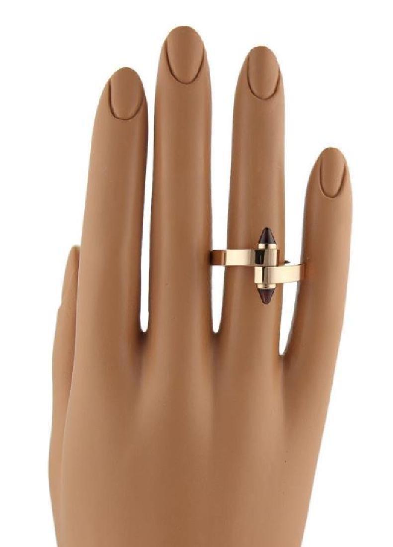 Cartier Menotte Garnet Rhodolite 18k Gold Ring - 2