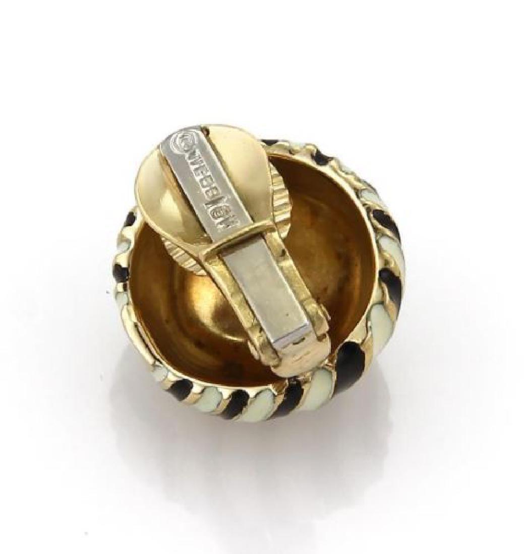 David Webb 18k Gold Wave Design Dome Earrings - 3