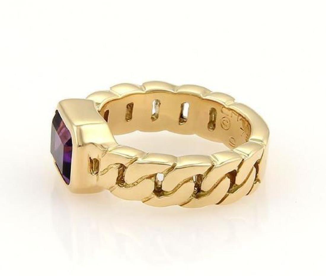 Chanel Emerald Cut Amethyst 18k Gold Ring - 3