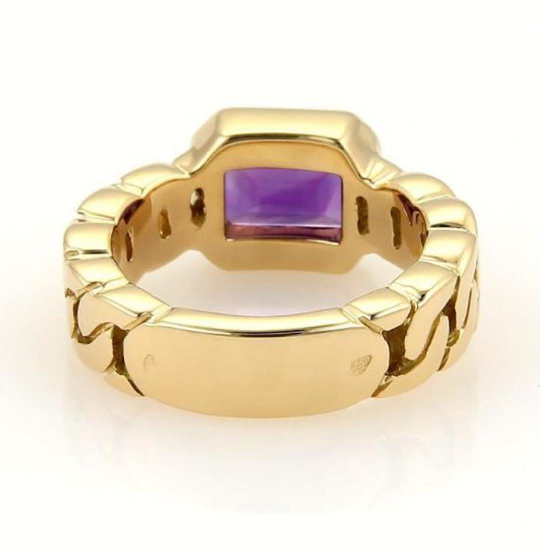 Chanel Emerald Cut Amethyst 18k Gold Ring - 4