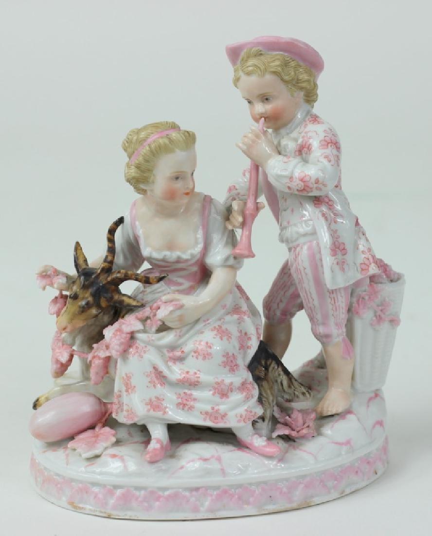 Antique German Sitzendorf Porcelain Grouping