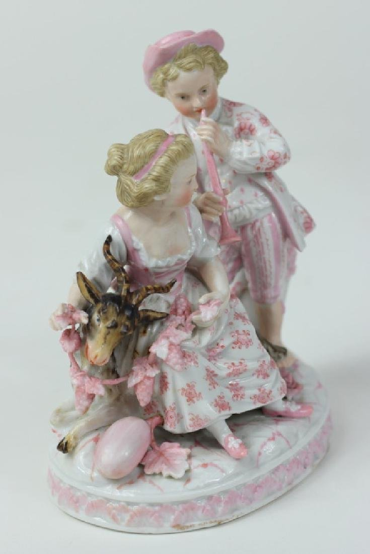 Antique German Sitzendorf Porcelain Grouping - 3