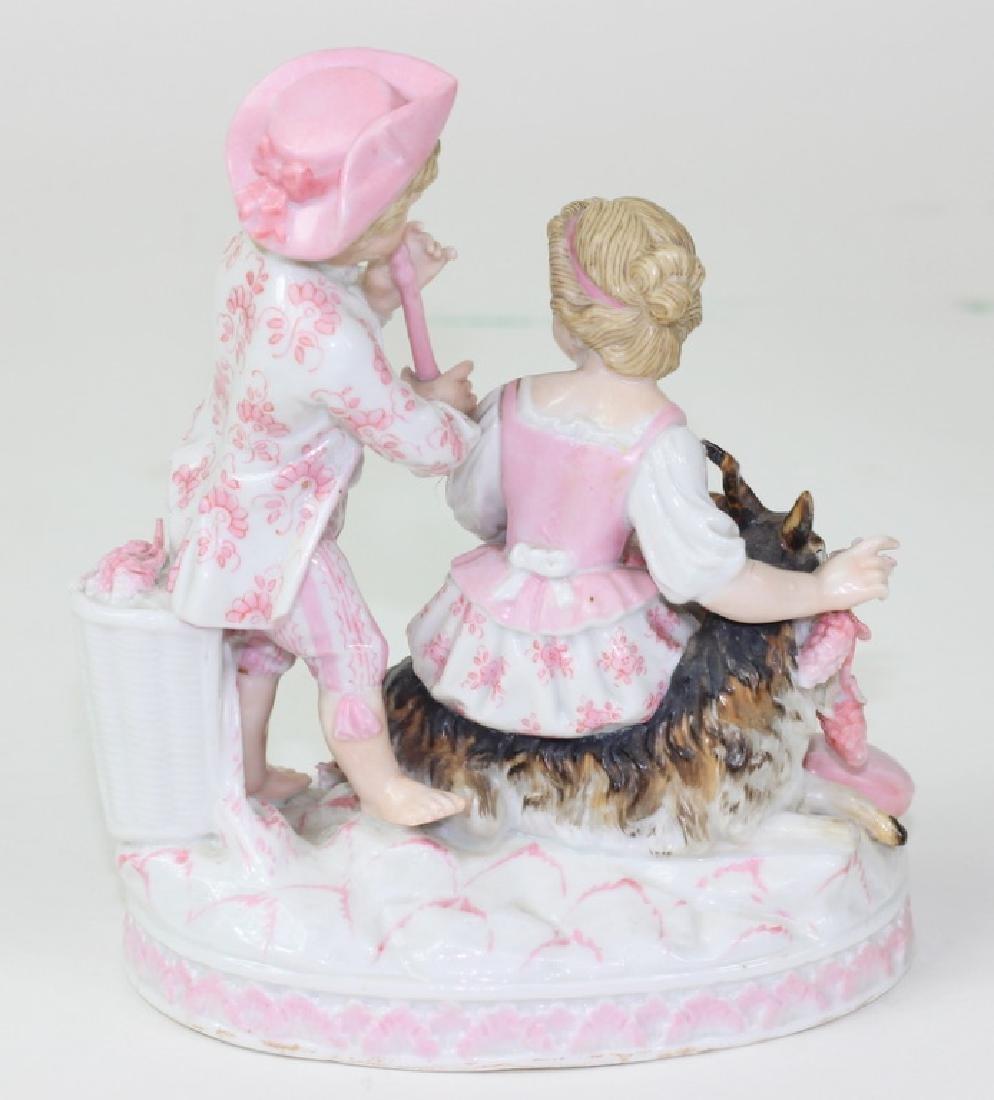 Antique German Sitzendorf Porcelain Grouping - 4