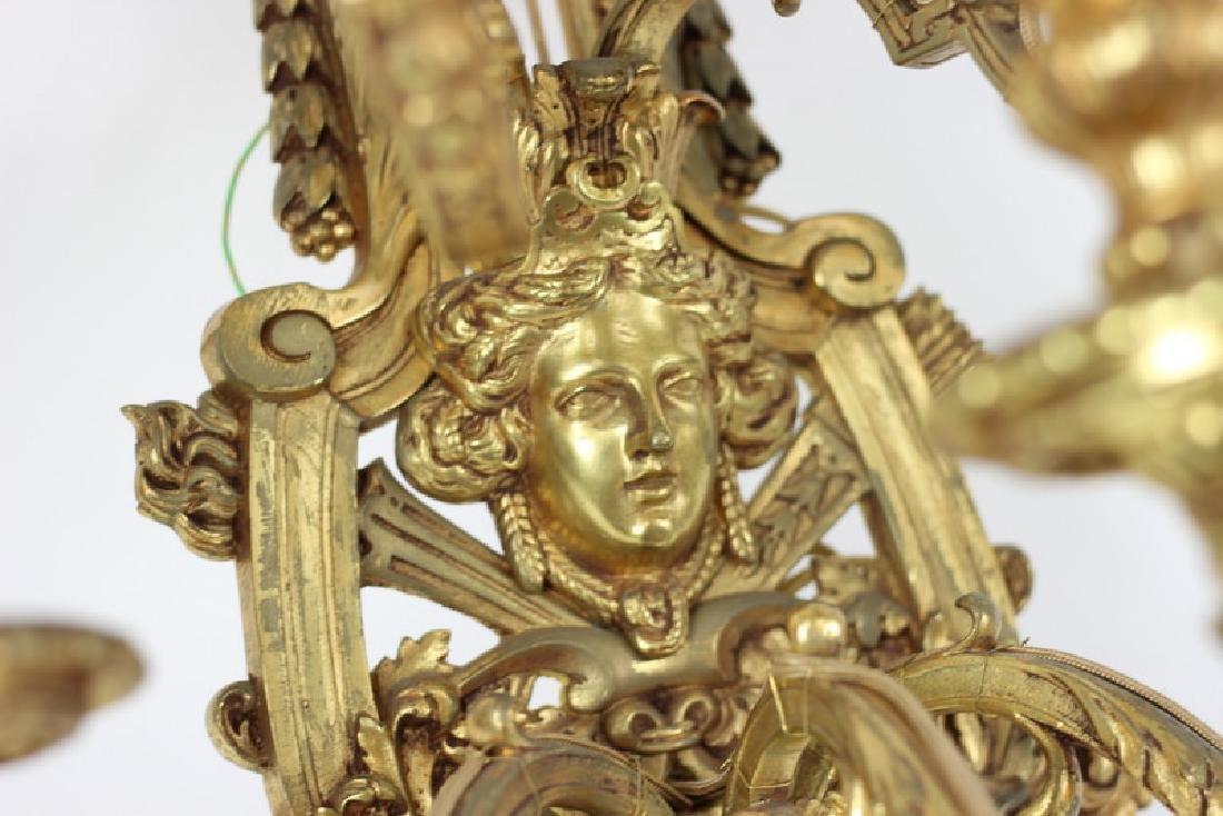 French Dore Bronze Rococo Sconce Light Fixture - 3