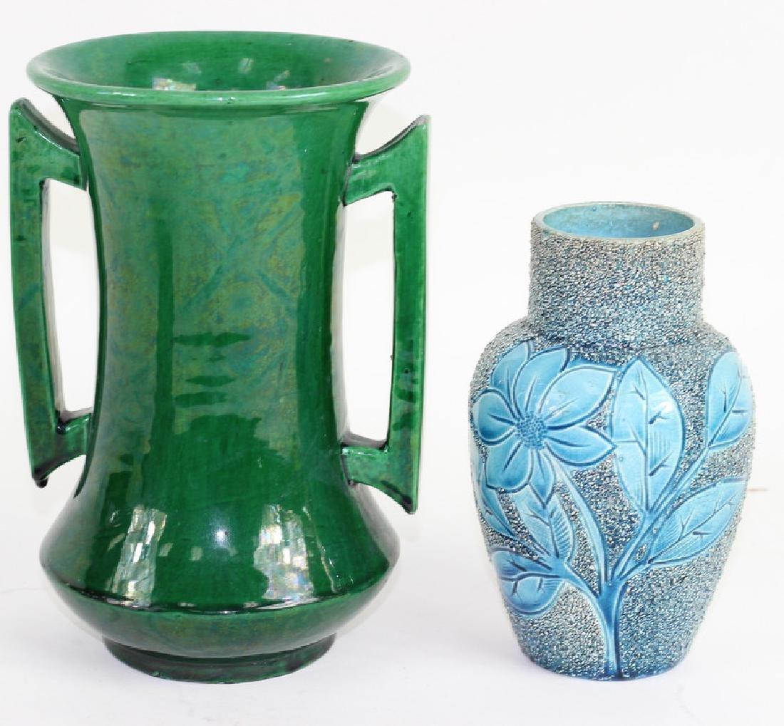 Two Japanese Glazes Flower Vases