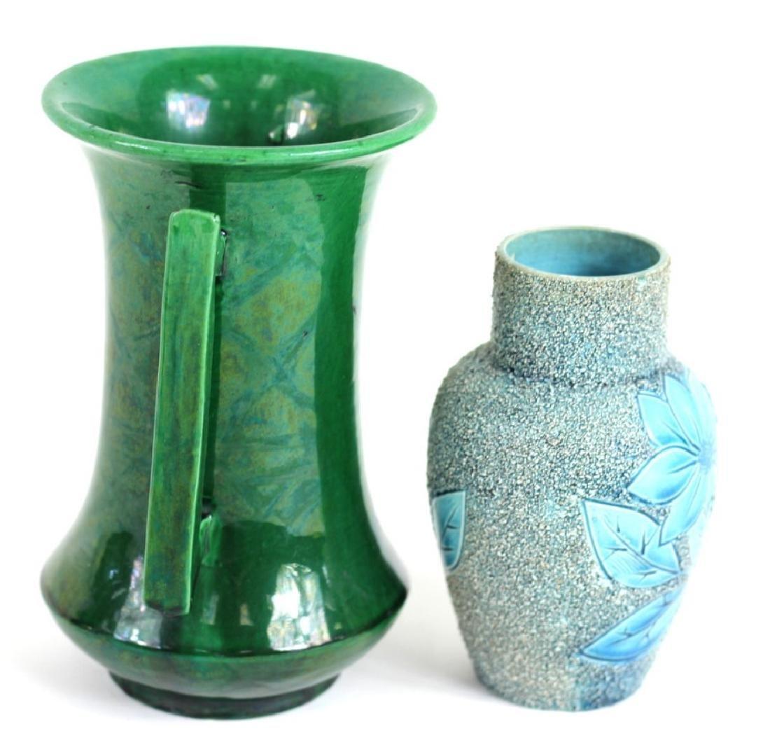 Two Japanese Glazes Flower Vases - 2