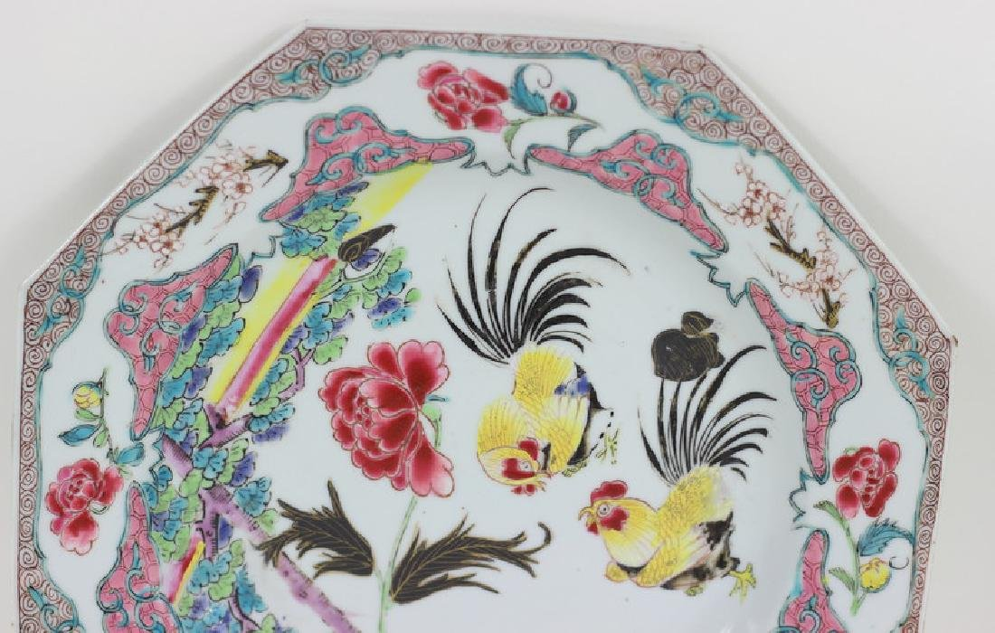 Antique Chinese Famille Porcelain Plate - 3