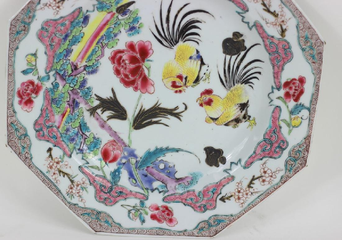 Antique Chinese Famille Porcelain Plate - 4