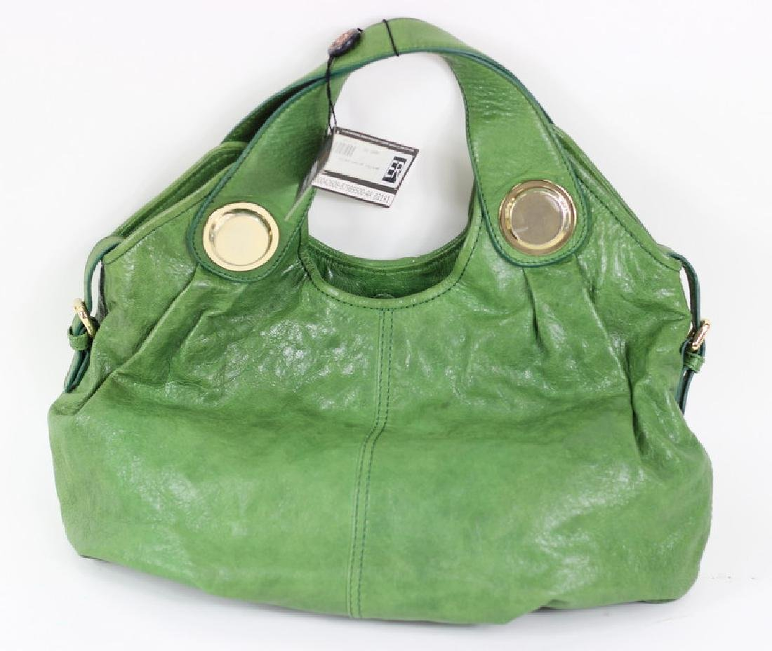 Gustto Green Pavia Distressed Leather Hand Bag