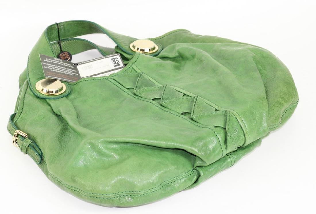 Gustto Green Pavia Distressed Leather Hand Bag - 3