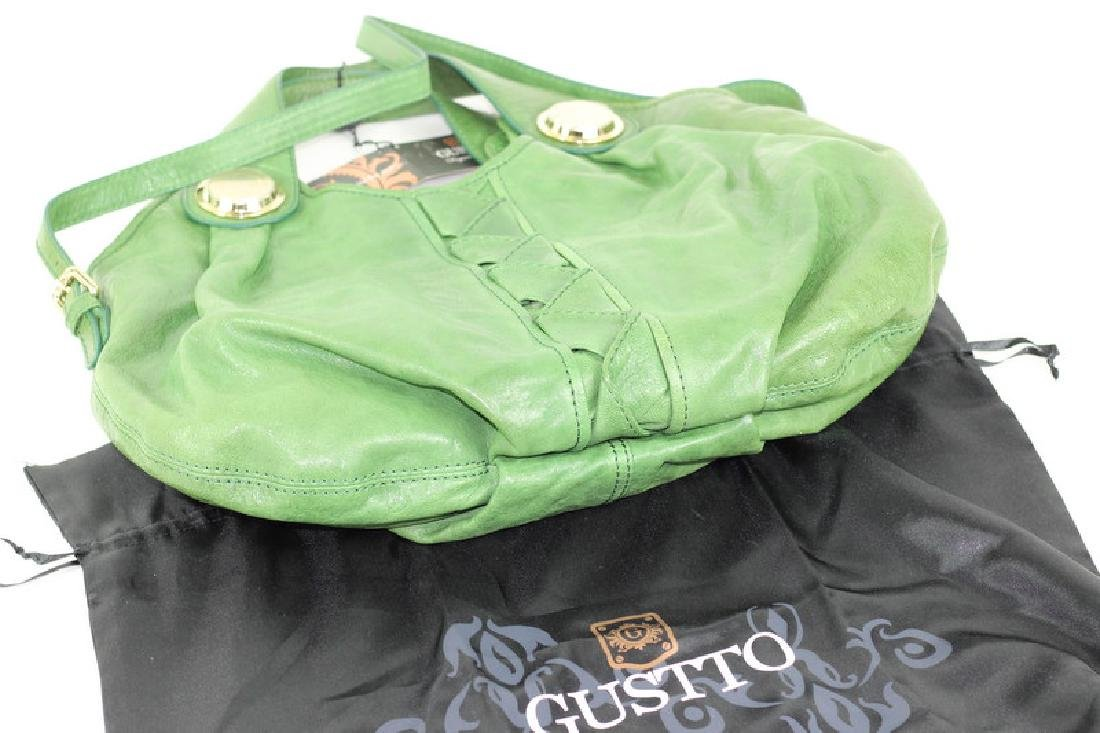 Gustto Green Pavia Distressed Leather Hand Bag - 4