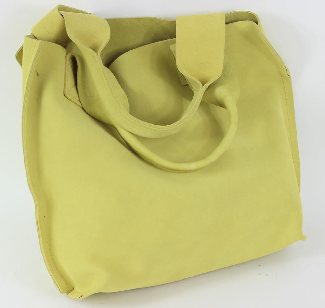 Pedro Garcia Borsa Camoscio Yellow Tote Bag - 3