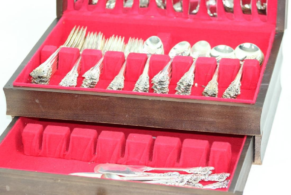 87 Pc Wallace Grand Baroque Sterling Flatware - 3