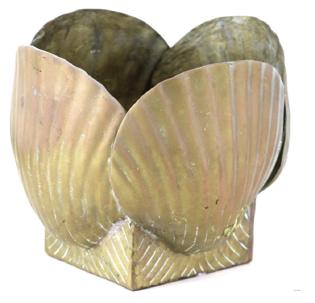 20th century Brass Shell Centerbowl