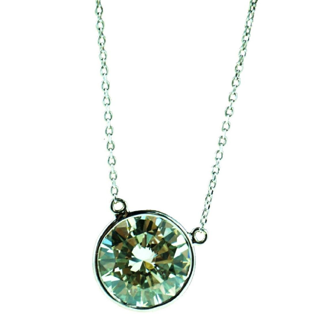 4.85 Carat Bezel Set Diamond Necklace. VS1/L