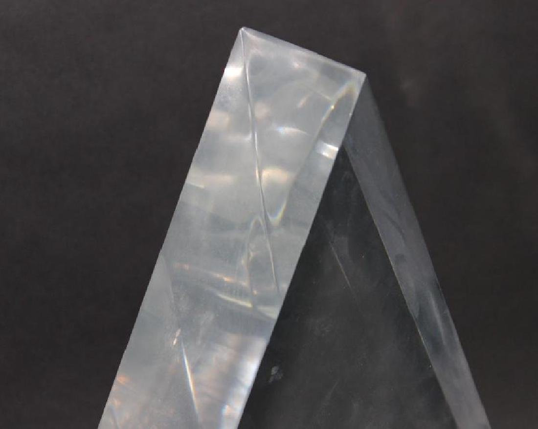 2 Large Lucite Trigangle Floating Cube Sculptures. - 3