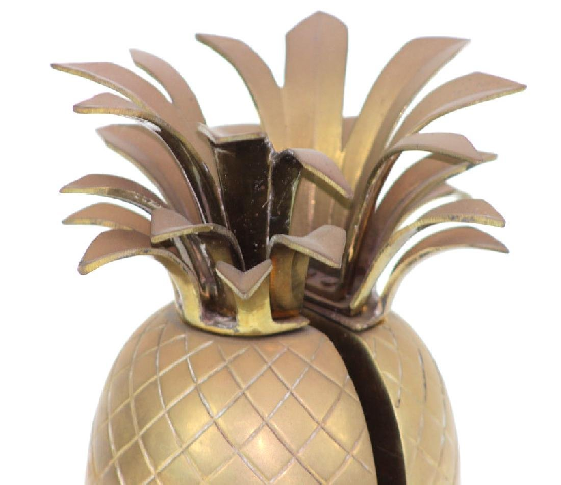 Pair of Vintage Brass Vintage Pineapple Bookends - 2