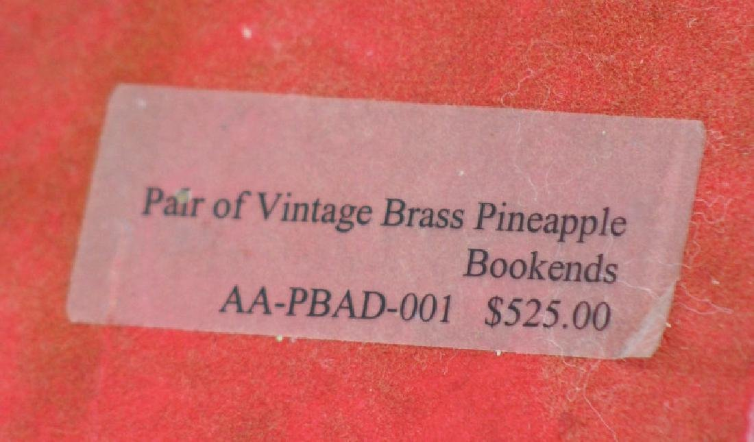 Pair of Vintage Brass Vintage Pineapple Bookends - 5