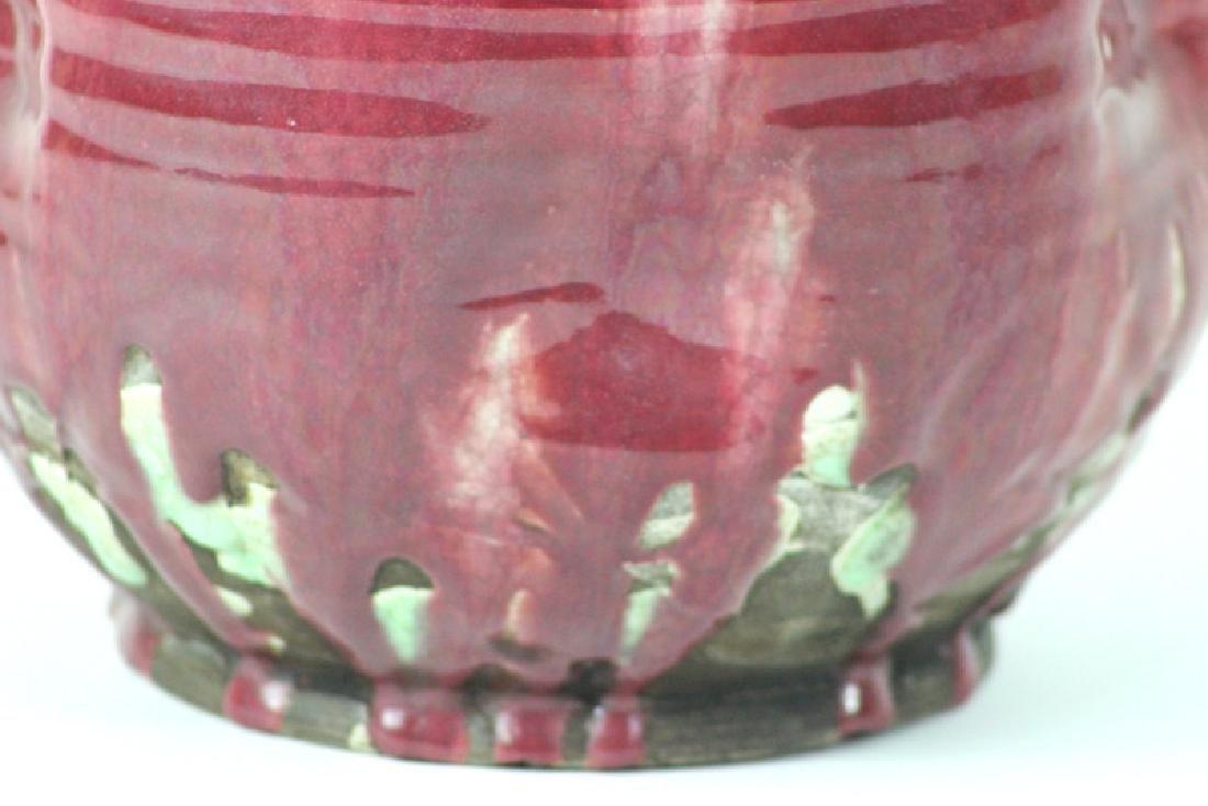Signed Ceramic Japanese Vase - 2