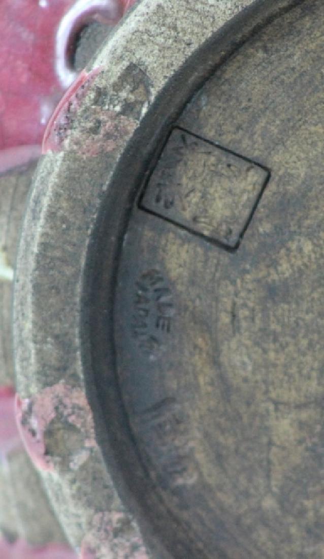 Signed Ceramic Japanese Vase - 5