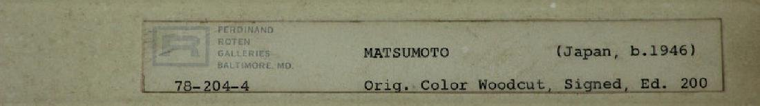 Matsumoto Signed Japanese Wood Block - 2