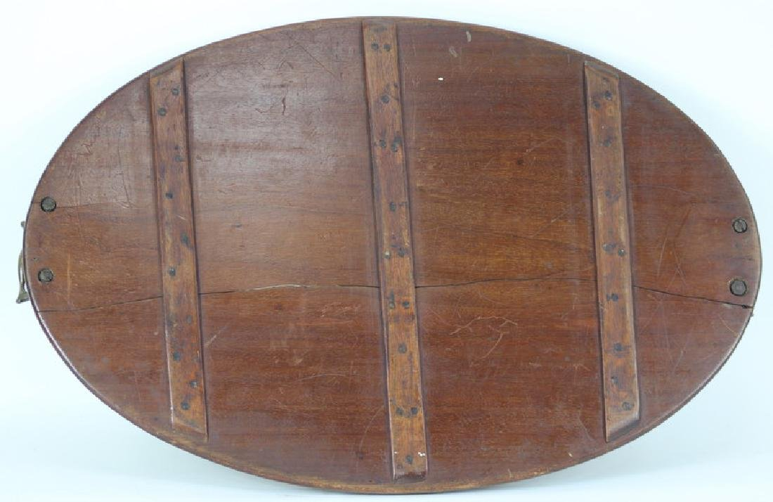 English Brass Mounted Wood Serving Tray - 4