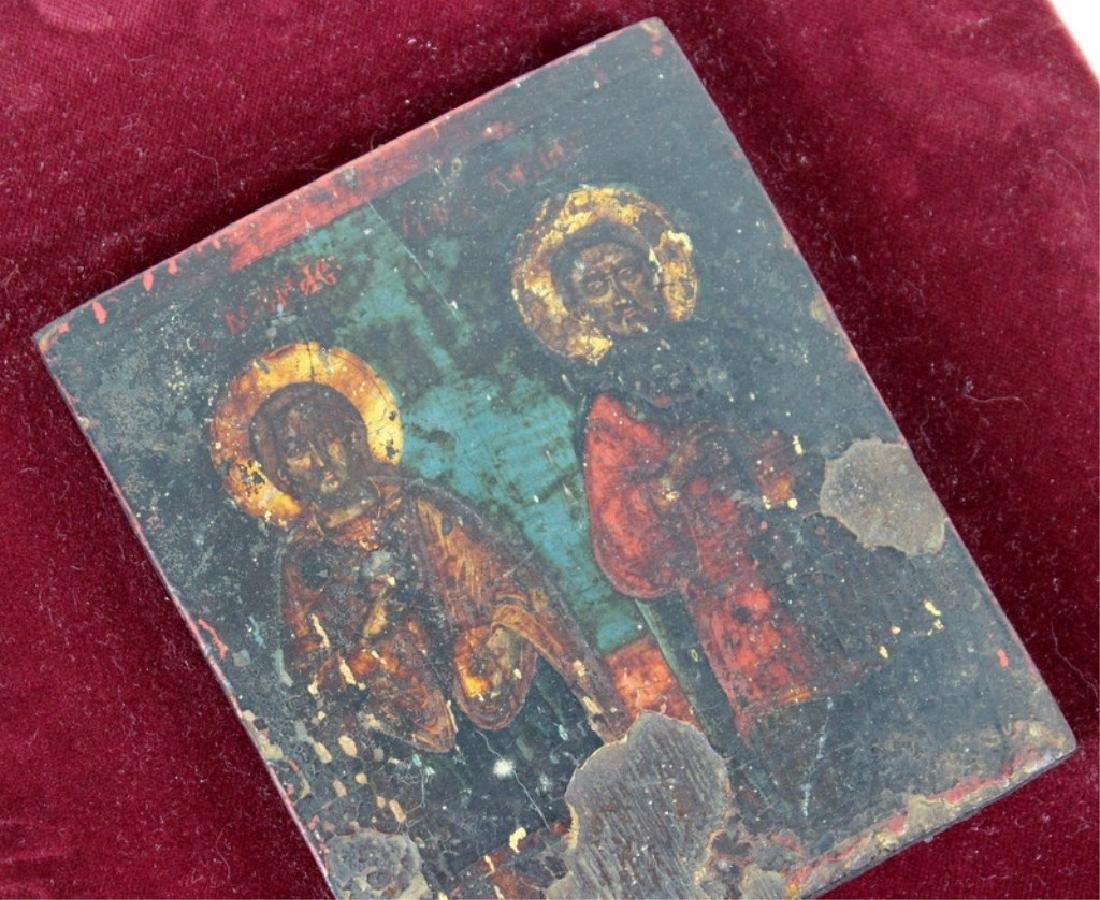 Russian Icon on Velvet Frame - 5