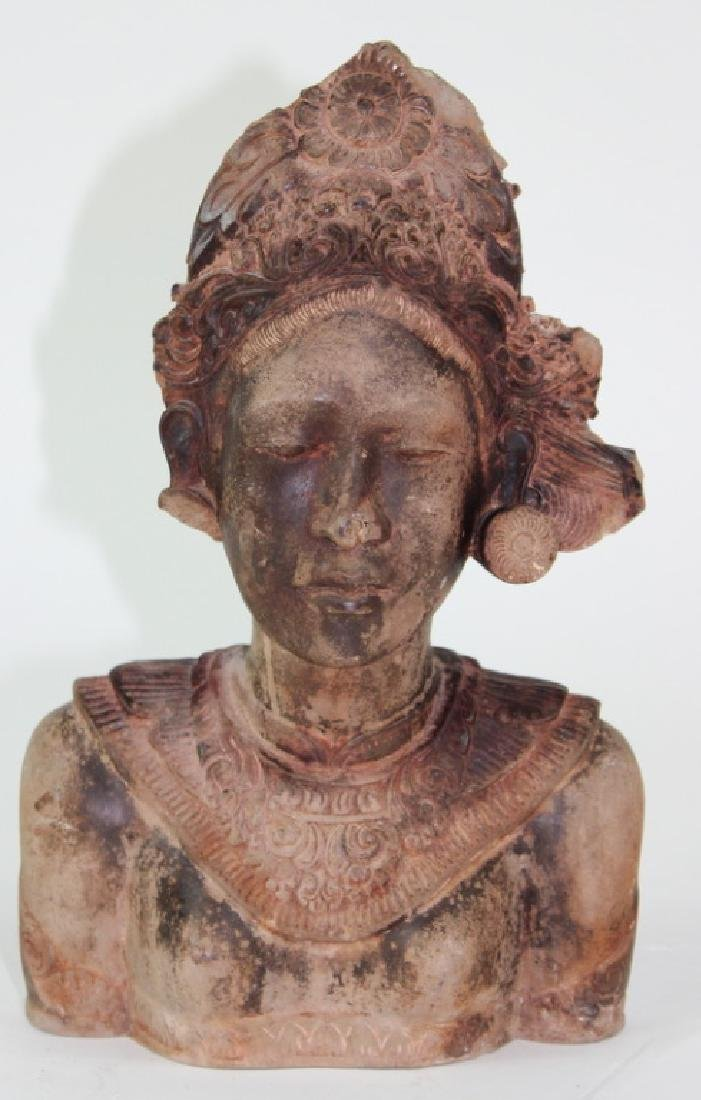 Middle Eastern Cermaic Sculpture of Woman