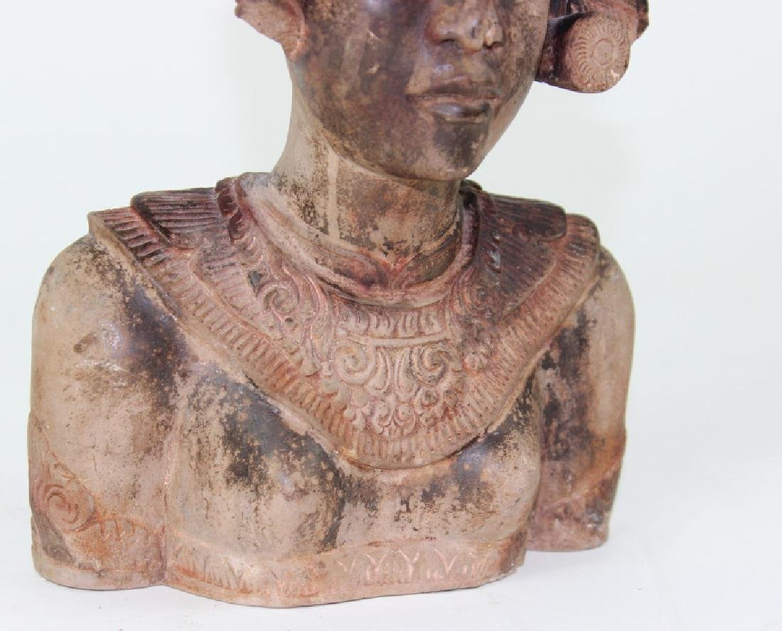 Middle Eastern Cermaic Sculpture of Woman - 4
