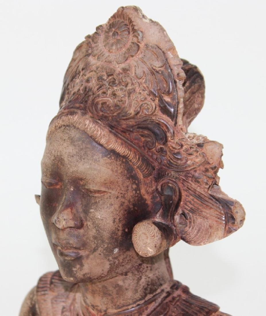 Middle Eastern Cermaic Sculpture of Woman - 5