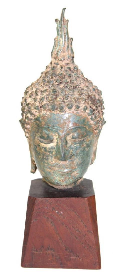 Chinese Buddha Head Bronze