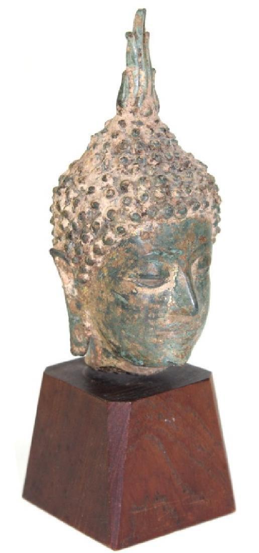 Chinese Buddha Head Bronze - 2