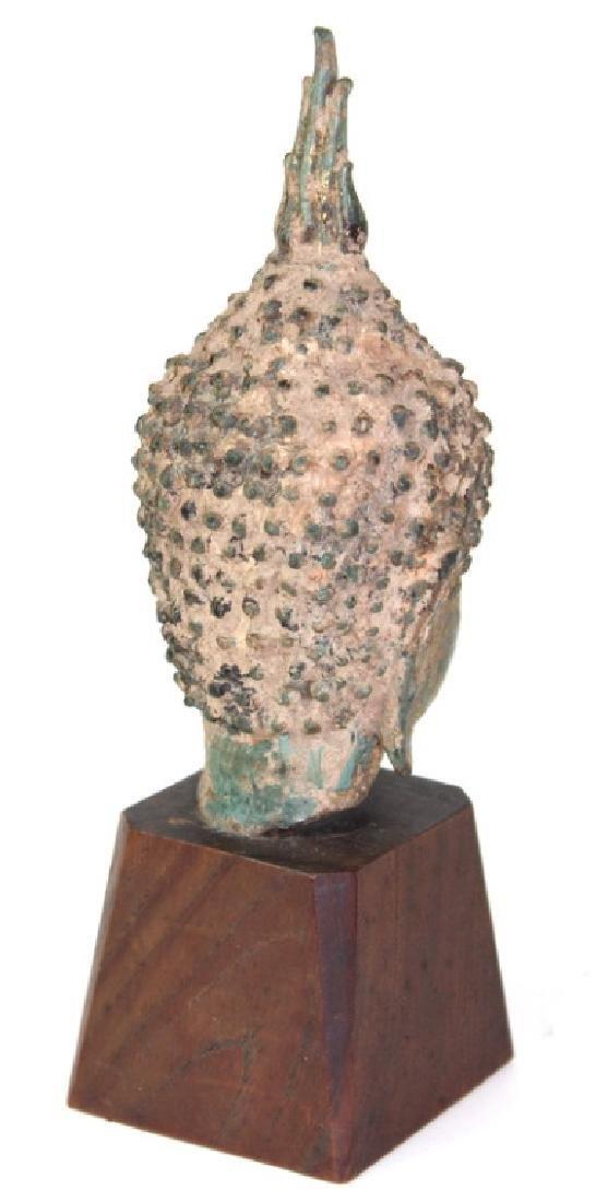 Chinese Buddha Head Bronze - 3